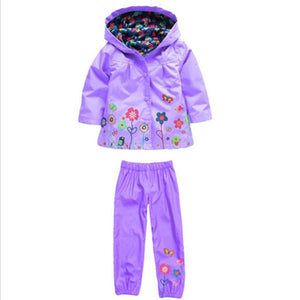 Baby Boys Girls Nodded Raincoat Waterproof Set Clothes - bump, baby and beyond