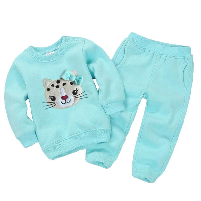 2 Sets Baby Boy Girl Animals Winter Tracksuit Sweatshirts Pants Clothes - bump, baby and beyond