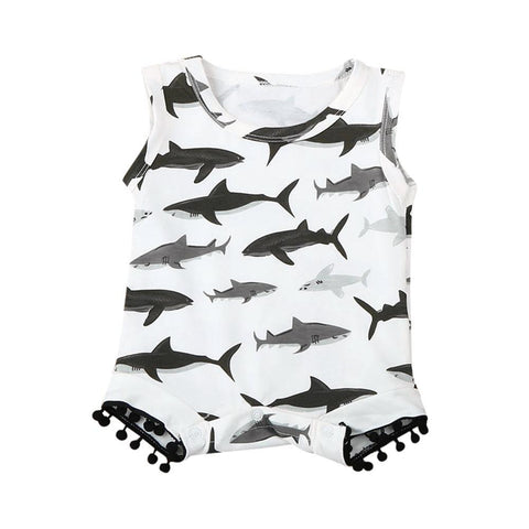 Baby Boys Girls Shark Romper Clothes - bump, baby and beyond