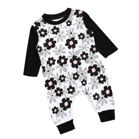 Cute Newborn Baby Girls Floral Romper Cotton Outfit - bump, baby and beyond