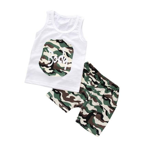 Baby boys fashion camouflage vest pant clothes - bump, baby and beyond