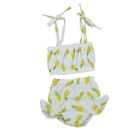 Cute Baby Girl Swimming Pineapple Swimsuit - bump, baby and beyond