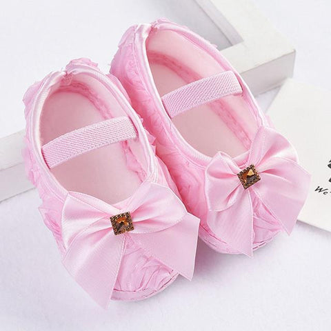 Baby Girls Ribbons Bowknot Shoes - bump, baby and beyond