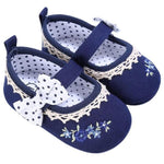 Baby Girls Spring Bowknot Embroidery Anti-Slip Crib Shoes - bump, baby and beyond