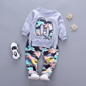 Camouflage Jacket Pant Baby Boy Girl Warm Cotton Clothes - bump, baby and beyond