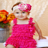 Baby Girl Ruffled Lace Romper Jumpsuit Clothes - bump, baby and beyond