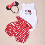3 pcs Summer  tops baby girl romper clothes - bump, baby and beyond