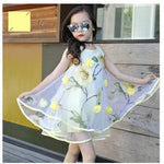 Summer Style Princess Teenage kid Bohemia Floral Sleeveless Dresses - bump, baby and beyond