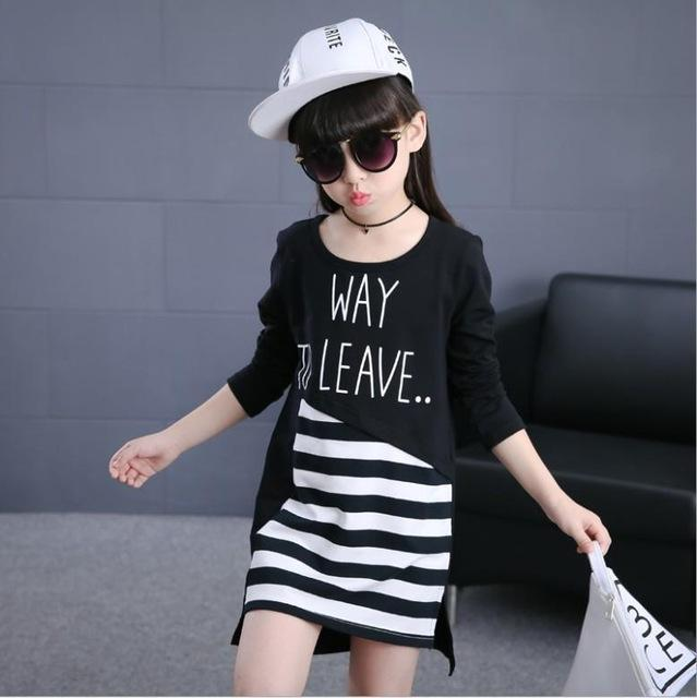 Casual Fashion Striped Dress Girls Vestidos Clothes - bump, baby and beyond