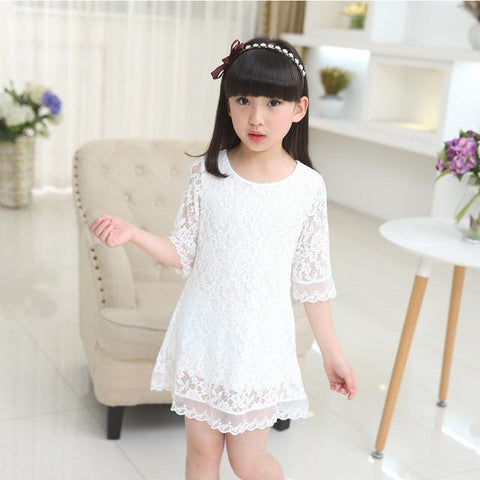 Girls dress white lace clothes - bump, baby and beyond