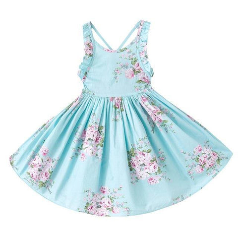 Summer Beach Floral Girls party dress - bump, baby and beyond