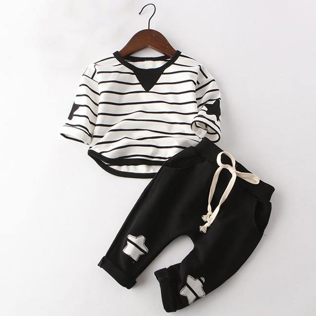 Stylish Long Sleeve Appliqué T Shirt Pants Clothing - bump, baby and beyond