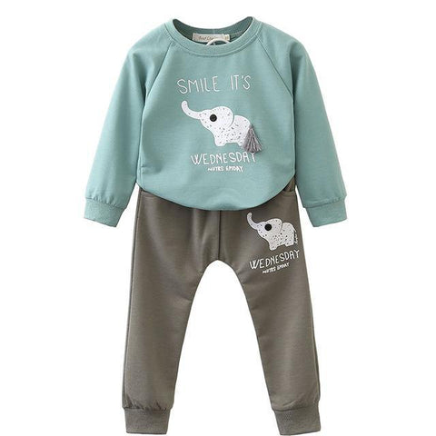 Stylish long sleeve appliqué t-shirt + pants clothing - bump, baby and beyond