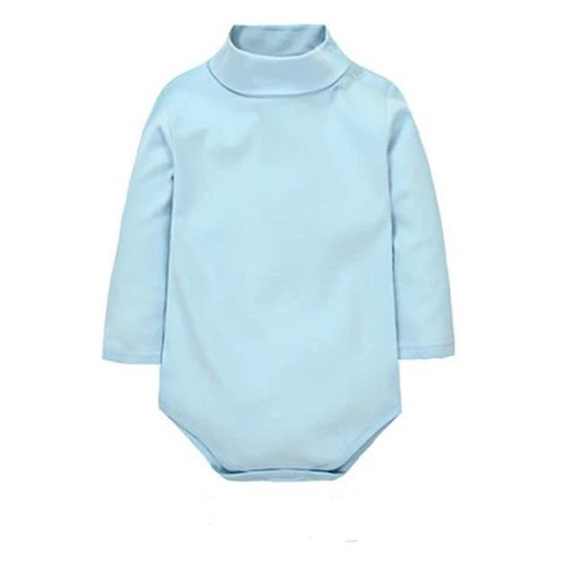 New Baby Boy Girl Romper Turn-Down Long Sleeve Clothes - bump, baby and beyond