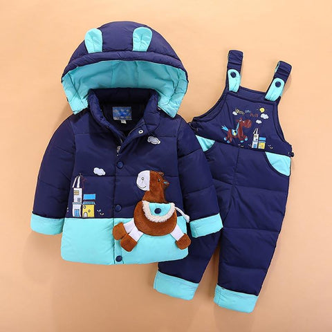 Winter kids baby boys+girls warm duck jacket parka thick coat - bump, baby and beyond