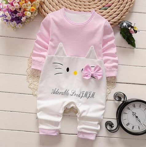 Cute newborn girls long sleeve romper clothes - bump, baby and beyond