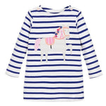 Unicorn Girls Long Sleeve Dress Kids Clothes - bump, baby and beyond