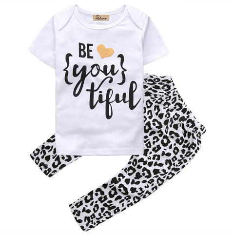 new girls short sleeve t-shirt+pants clothes - bump, baby and beyond