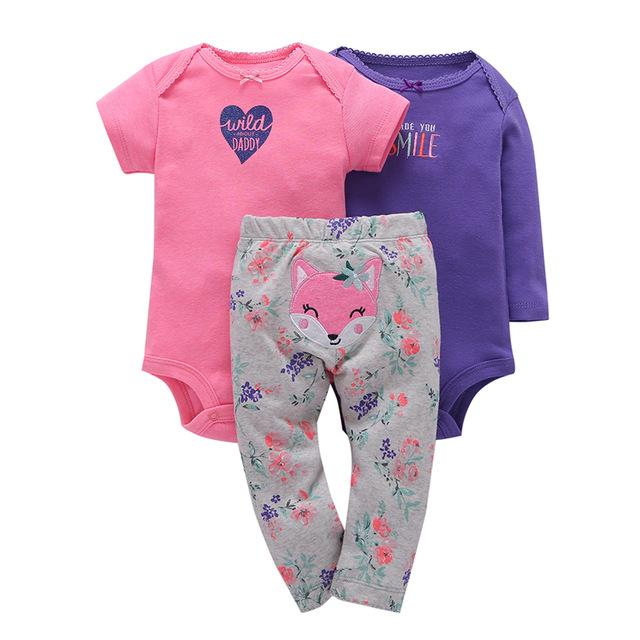 3pcs Baby Girl Set Purple Ropa Owl Coat Jumpsuit Clothes - bump, baby and beyond