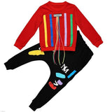 Boys printed tassels sweatshirts + Haren pants clothes - bump, baby and beyond