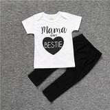 summer baby boy clothes cotton short sleeve t-shirt+pants - bump, baby and beyond