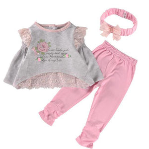 New Spring Long Sleeve Baby Girl Outfit Clothes - bump, baby and beyond