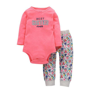 Baby Girls Long Sleeve Stripe Pants Clothes - bump, baby and beyond