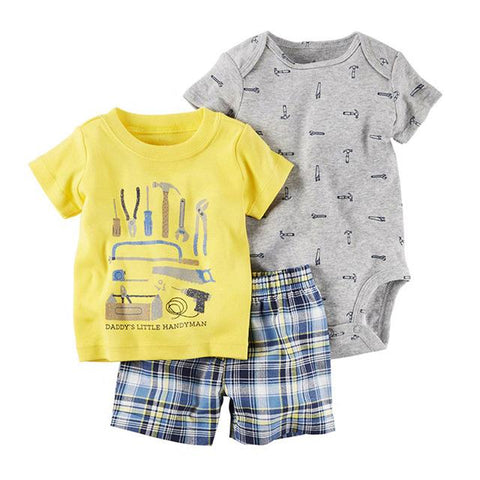 Summer Baby Boy Girl T Shirt Short Romper Clothes - bump, baby and beyond