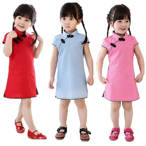 Awesome girls short sleeve qipao dress - bump, baby and beyond