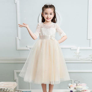 Beautiful Princess White Party Gown Purple Lace Dress - bump, baby and beyond