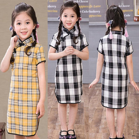 Children Qipao Chinese New Year Cheongsam Girls Clothes - bump, baby and beyond