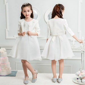 Brand Girls dresses with two coats for weddings - bump, baby and beyond