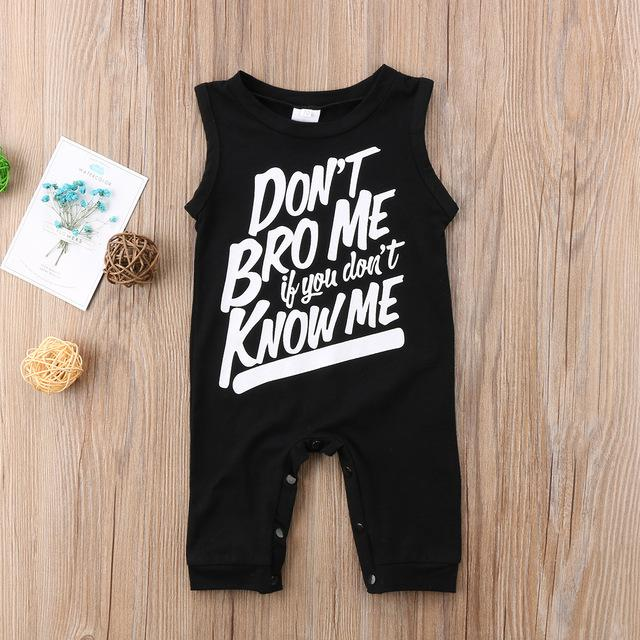 Baby Boy Don't Bro Me If You Don't Know Me Romper Jumpsuit Clothes - bump, baby and beyond