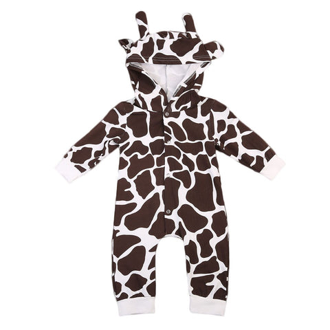 babies milk cow hooded rompers costume outfit clothes - bump, baby and beyond