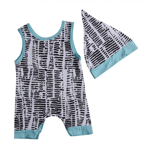 Newborn Baby Summer Romper Unisex Hat Clothes - bump, baby and beyond