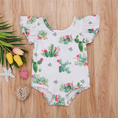 New Baby Girls Short Sleeve Floral Jumpsuit - bump, baby and beyond