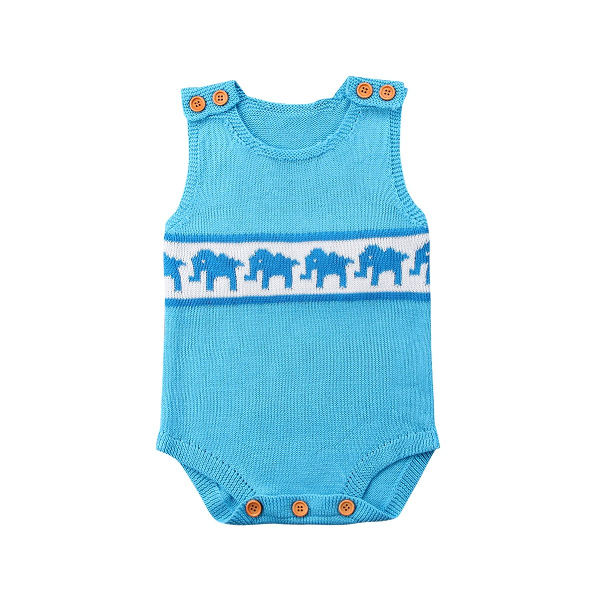 Baby Girls Knitted Elephant Sleeveless Jumpsuit Clothes - bump, baby and beyond