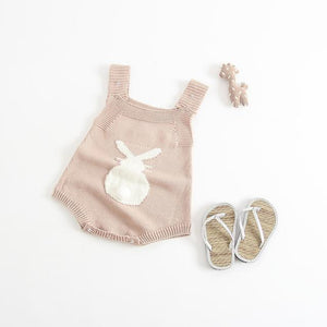 Baby Girl Cotton Knitted Sleeveless Romper Clothes - bump, baby and beyond