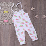 baby girl white watermelon romper clothes - bump, baby and beyond