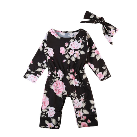 brand new baby girl top romper headband jumpsuit - bump, baby and beyond