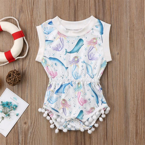 cute summer baby girls romper elastic jumpsuit clothes - bump, baby and beyond