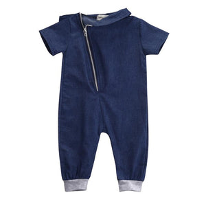 New Denim Baby Boys Short Sleeve Romper Jumpsuit Clothing - bump, baby and beyond