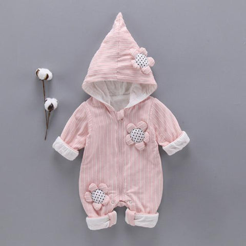 new hooded baby girl long sleeve clothes - bump, baby and beyond