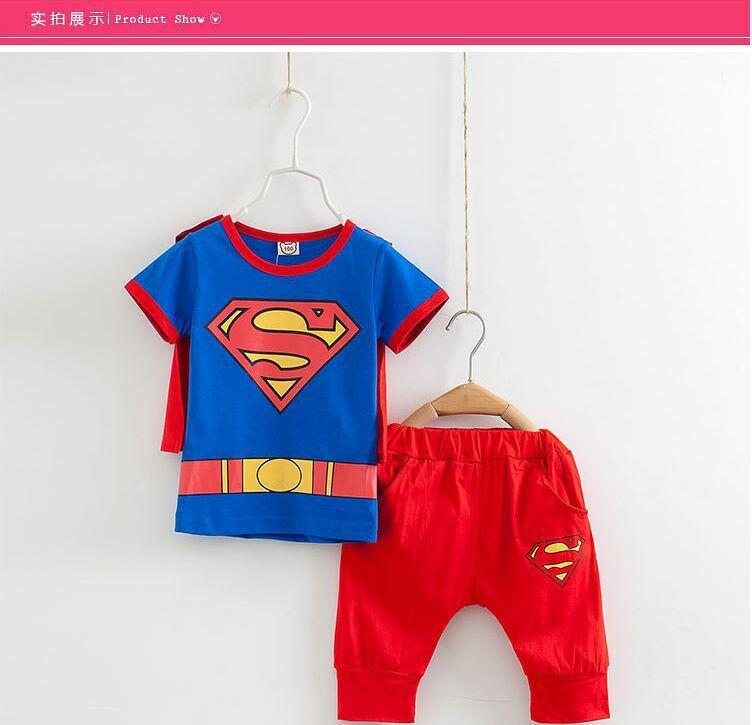 Boys Girls Superman Short-Sleeved Clothes - bump, baby and beyond