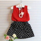 Summer Baby Girls Red T Shirt Skirt Clothes - bump, baby and beyond