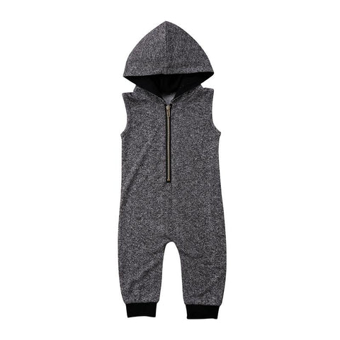 baby boy hooded sleeveless jumpsuit clothes - bump, baby and beyond