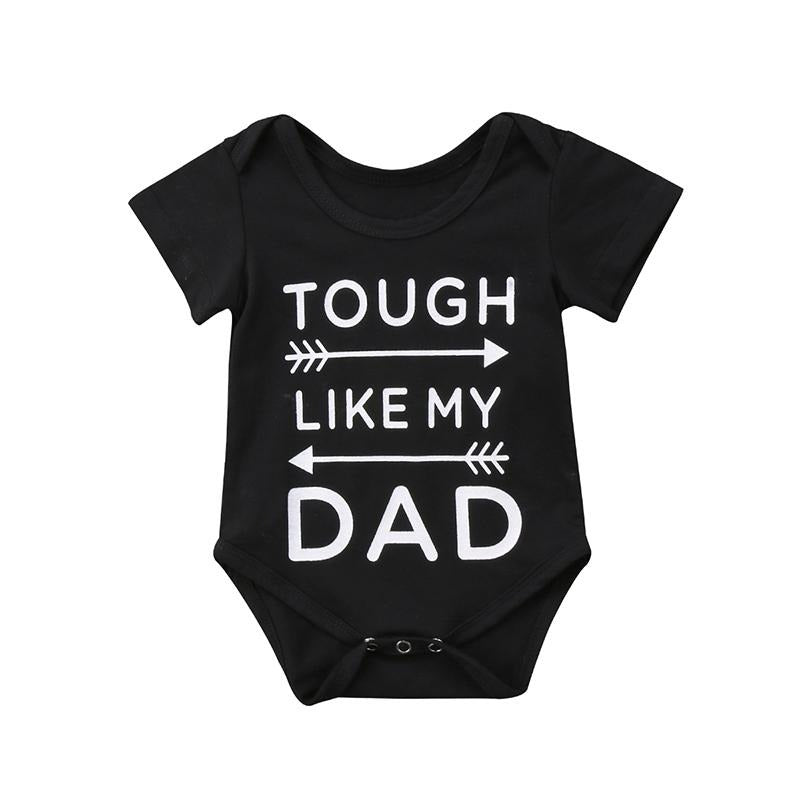 Newborn Baby Boy Girl Short Sleeve Tough Like My Daddy Romper Clothes - bump, baby and beyond