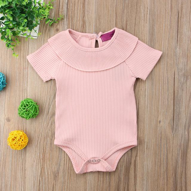 Baby Girl All Round Collar Romper Jumpsuit Short Sleeve Clothes - bump, baby and beyond