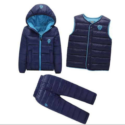 Baby girls+boys cotton-padded coat+vest+pants outfit suits - bump, baby and beyond