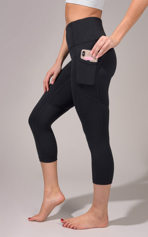 """Lux"" High Waist Capri with Side Pockets"